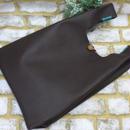 牛革トートバッグ レザートートバッグ レジ袋の形 チョコ 18042203