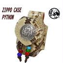 ZIPPOケース ヘビ革 ライターケース パイソン革 ベルト用 ココペリ 19020101