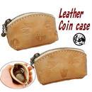 コインケース 牛革 ヌメ革 レザー 小銭入れ モスラ型 ネコとココペリ 18092501