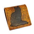 猫 シルエット カービングクラフト レザーコインケース  Light Brown 10007360