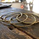 ネイティヴ スタンプ バングル 真鍮