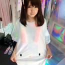 オーロラ染めぬいぐるみうさちゃんBIGTシャツ/JUNGLE BUS×moon prism power