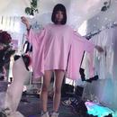 オープンショルダー羽織り型BIGTシャツ/HOMELESS PARTY.