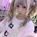ねむいのオーロラ染めTシャツ/moon prism power×神様ごっこ