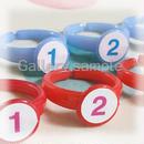 子供用サイズ♪指番号付ゆびのトレーニング用指輪(右手赤・左手水色)★新色★