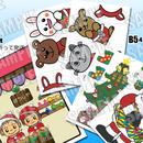 季節限定『サンタさんからのプレゼント(ぼうしぼうしにあうかな?)』ぷれぴあのパネルシアター作成キット【楽譜説明付】