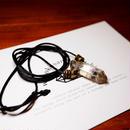 ガウリシャンカール産ヒマラヤ水晶(スモーキー・光沢)真鍮パーツネックレス C
