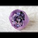 「受注生産」和紙ラウンドブーケ・紫(商品番号:bouquet-pro002pur)