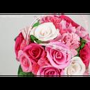 【即日発送可】和紙ラウンドブーケ・ピンク(商品番号:bouquet-002p)