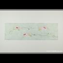 「限定品」創作デザイン落水和紙(金魚)(商品番号:as-17601)