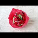 「受注生産」和紙ラウンドブーケ・赤 (商品番号:bouquet-pro002r)