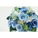 【即日発送可】和紙ラウンドブーケ・青 (商品番号:bouquet-002b)