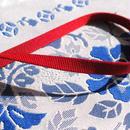 綺麗な赤色の三部紐(並尺)