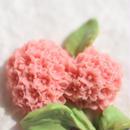 二輪の紫陽花の帯留 ピンク