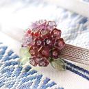 紫陽花の帯留(グラデーションピンク)