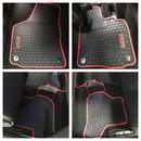 VW ゴルフ5 ゴルフ6  レッドライン フロアー ラバーマット フルセット 5pcs