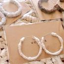 knitピアス(P1001)ホワイト