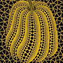 草間彌生 かぼちゃ黄色 リトグラフ版画 (158)