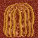 草間彌生 かぼちゃ赤  リトグラフ版画(#45)