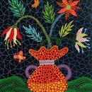 草間彌生 花 花と花瓶  リトグラフ版画(#202)