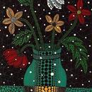 草間彌生 花 花と花瓶  リトグラフ版画 (21)