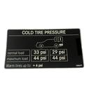 Mercedes-Benz  US 純正 タイヤ空気圧ラベル