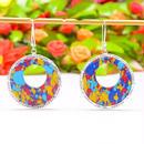 MOSAIC RAINBOW JASPER GEMSTONE 925SILVER earrings