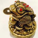 銭蛙(古銭付き)