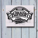 BARBER RAZAR metal sign