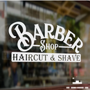 BARBER cut&shave window sign
