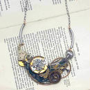 Tomoko Tokuda Steampunk necklace スチームパンクネックレス Sky Green
