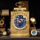 【蓄光】星空の置き時計 四角 天体観測 アンティーク クロック リプロダクト