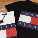 再入荷 トミーTシャツ 大人気 男女 白黒2色 送料無料