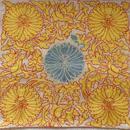 クッションカバー黄青 ウズベキスタン 約47 x 47cm スザニ yellow+blue suzani cushion cover uzbekistan sz-0002