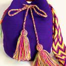 Wayuu Mochila Bag purple solid Colombia ワユー バッグ パープル wy-0004