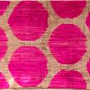 クッションカバー ピンク水玉 ウズベキスタン 約36.5 x 45cm ベルベットイカット pink dots velvet ikat cushion cover uzbekistan vi-0001