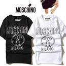 大人気 モスキーノ MOSCHINO Tシャツ メンズ レディース 半袖 人気新品 男女兼可 F89-MS-5011