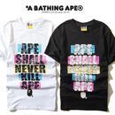大人気 A BATHING APE ア ベイシング エイプ Tシャツ 半袖 人気新品 男女兼可 F89-AP-6043