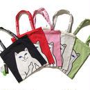 ★送料無料★RIPNDIP リップンディップ トートバッグ かばん 手さげ かわいい ネコ キャット スケーター ストリート メンズ レディース  エコバック C6C-RN-BAB1-1