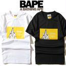 大人気 A BATHING APE ア ベイシング エイプ Tシャツ 半袖 人気新品 男女兼可 F89-AP-6063