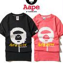 大人気 A BATHING APE ア ベイシング エイプ Tシャツ 半袖 人気新品 男女兼可 F89-AP-6086