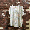 LADIES FLOWER PATERN S/S BLOUSE