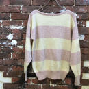 LADIES BOAT NECK BORDER KNIT