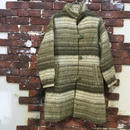 LADIES GRADETION BORDER WOOL COAT