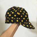 BLACK × YELLOW DOT CANVAS CAP