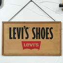 70-80s LEVI'S WOODEN SIGNBOARD