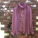 LADIES VINTAGE FRILL BLOUSE