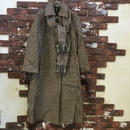 LADIES HOUND'S TOOTH CHECK WOOL COAT