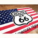 【フラッグシリーズ】タペストリー[USA・ROUTE66]<アメリカン雑貨>