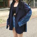[ Unisex ]2Tone Design Jacket